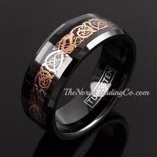 celtic dragon rings images Dramatic dragon gold celtic pattern inlay black tungsten wedding jpg