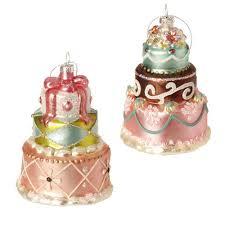 raz sprinkles 4 5 inch glass layer cake ornament shelley b