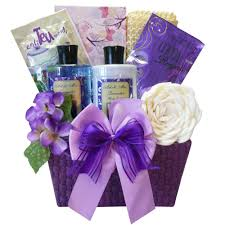 lavender gift basket tranquil delights spa bath and gift basket set with tea and