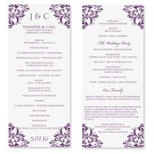wedding program layout template wedding program template instant by diyweddingtemplates