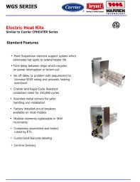 15 kw heat strip for carrier bryant payne heat pump package units
