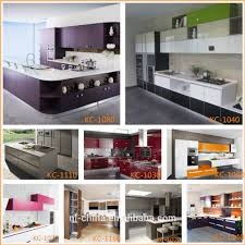tempered glass finish high gloss kitchen cabinets flat pack