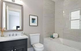 Small Bathroom Subway Tile Pueblosinfronterasus - Modern subway tile bathroom designs