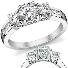 Heart Wedding Rings by 6 5 4 5mm Forever Brilliant Engagement Ring W Heart Design