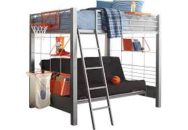 Build A Bunk Bed With Trundle by Build A Bunk Gray 4 Pc Full Futon Loft Bed Bunk Loft Beds Metal