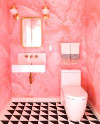 Pennys Curtains Joondalup by Cedar U0026 Moss Sconce Pink Marble Eclectic Bathroom And White Tiles