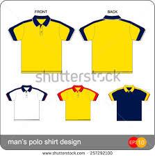 mans polo shirt design vector template stock vector 257468491