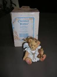 cherished teddies avon 15th anniversary ornament in mitten