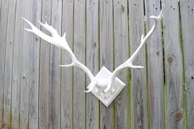Fake Deer Head Wall Mount Large Faux Deer Antlers White Antler Rack Wall Mount La01
