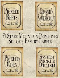 Kitchen Canister Labels Primitive Kitchen Pantry Pickled Beets Corn Relish Sauerkraut Jpeg