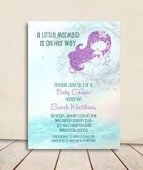 mermaid baby shower ideas mermaid baby shower invitation turquoise and purple glitter