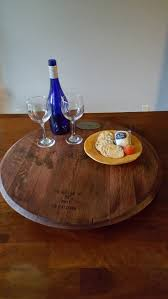 Glass Lazy Susan For Patio Table by 25 Unique Wine Barrel Lazy Susan Ideas On Pinterest Barrel