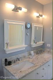Led Bathroom Lighting Vanity With Frameless Mirror And Double Sink - Bathrooms with double sinks