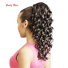 clip on ponytail wholesale synthetic ponytails hairpieces for american black