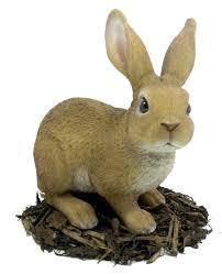 large rabbit resin garden ornament 23 74 garden4less uk shop