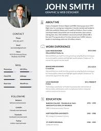 resume template with picture 50 most professional editable resume templates for jobseekers