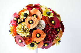wedding flowers etc paper bridal bouquet made from books large custom made