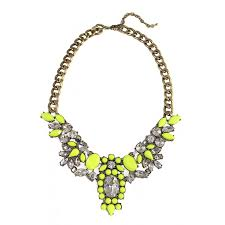 bib necklace flower images Anastasia neon yellow floral flower crystal bib statement necklace jpg