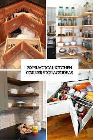 Kitchen Corner Shelf Ideas 20 Practical Kitchen Corner Storage Ideas Shelterness