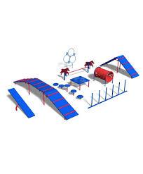 Backyard Agility Course Expert Agility Dog Park Kit Barkpark Parkwarehouse Com