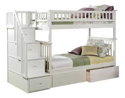 Twin Loft Bed With Stairs Harriet Bee Abel Staircase Twin Over Full Standard Bed With
