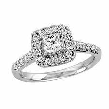 princess cut 3 engagement rings 3 4 ct t w princess cut engagement ring in 14k white
