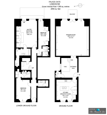 Plan Apartment by Apartment 1 U2013 6 Palace Gate London W8 England Uk The