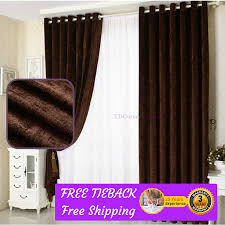 coffee brown cappuccino fabric bedroom door curtains design drapes