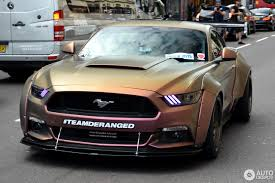 widebody muscle cars ford mustang gt 2015 deranged widebody supercharged 19 july 2016