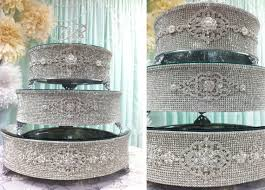 rhinestone cake stand 18x18 rhinestone cake stand for wedding by tangedesign