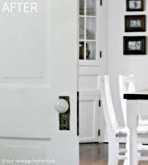 White Bedroom Door Knobs Our Vintage Home Love Pocket Doors And Porcelain Door Knobs
