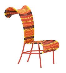 chaise tress e chaise shadowy plastique tressé multired orange jaune