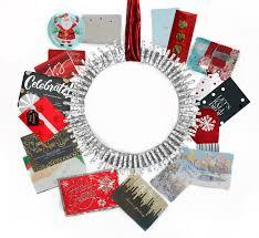christmas wreath card christmas lights decoration