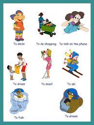 english kids fun verbs pictures i