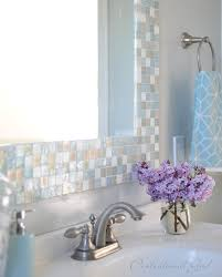 diy mosaic tile bathroom mirror centsational style