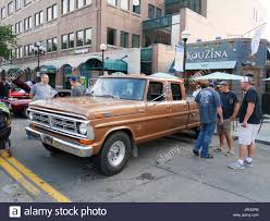 Old Ford Truck Crew Cab - 1972 vintage ford f350 crew cab pickup truck stock photo royalty