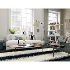 Cb2 Uno Sofa Piazza Sofa Black Rug Room And Living Rooms