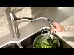 Moen Pullout Kitchen Faucet by Voss One Handle High Arc Pullout Kitchen Faucet Moen Features