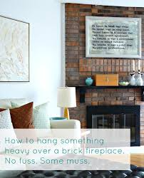 how to hang a heavy mirror on brick how to drill into brick