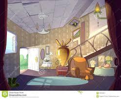 Livingroom Cartoon Cartoon Living Room Interior Stock Illustration Image 56849921