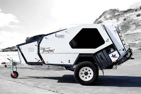 offroad teardrop camper rugged teardrop trailer has its own pull out kitchen curbed