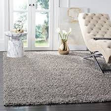 Grey Area Rug Safavieh Athens Shag Collection Sga119f Light Grey