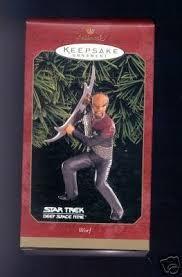 1 x worf trek space nine hallmark keepsake