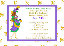 mardi gras babies gras baby shower invitations