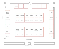scale southern california linux expo 2005 exhibition floor layout