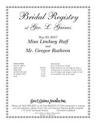 s bridal registry gift registry lakeland fl george l gaines jeweler inc