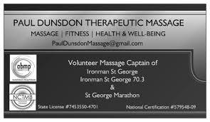 Sports Massage Business Cards Therapeutic Massage U0026 Sports Massage Of Dixie