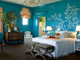 small and romantic bedrooms in blue colour home combo