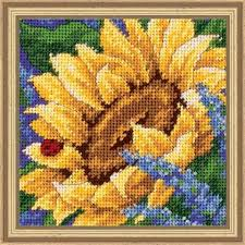 dimensions sunflower and ladybug needlepoint