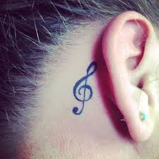 29 best treble clef tattoo behind ear on 5sos images on pinterest